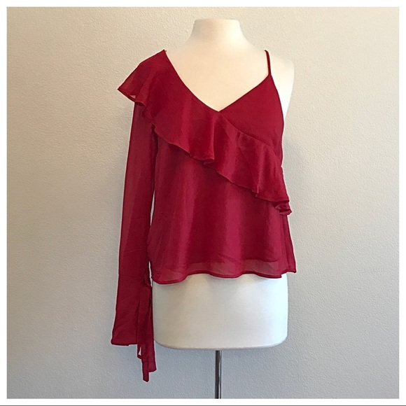 Lush Tops - Lush Red Off the Shoulder Top